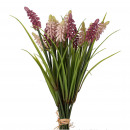 Hyacinth bundle, 2 colors, x20, H32cm, light pink,